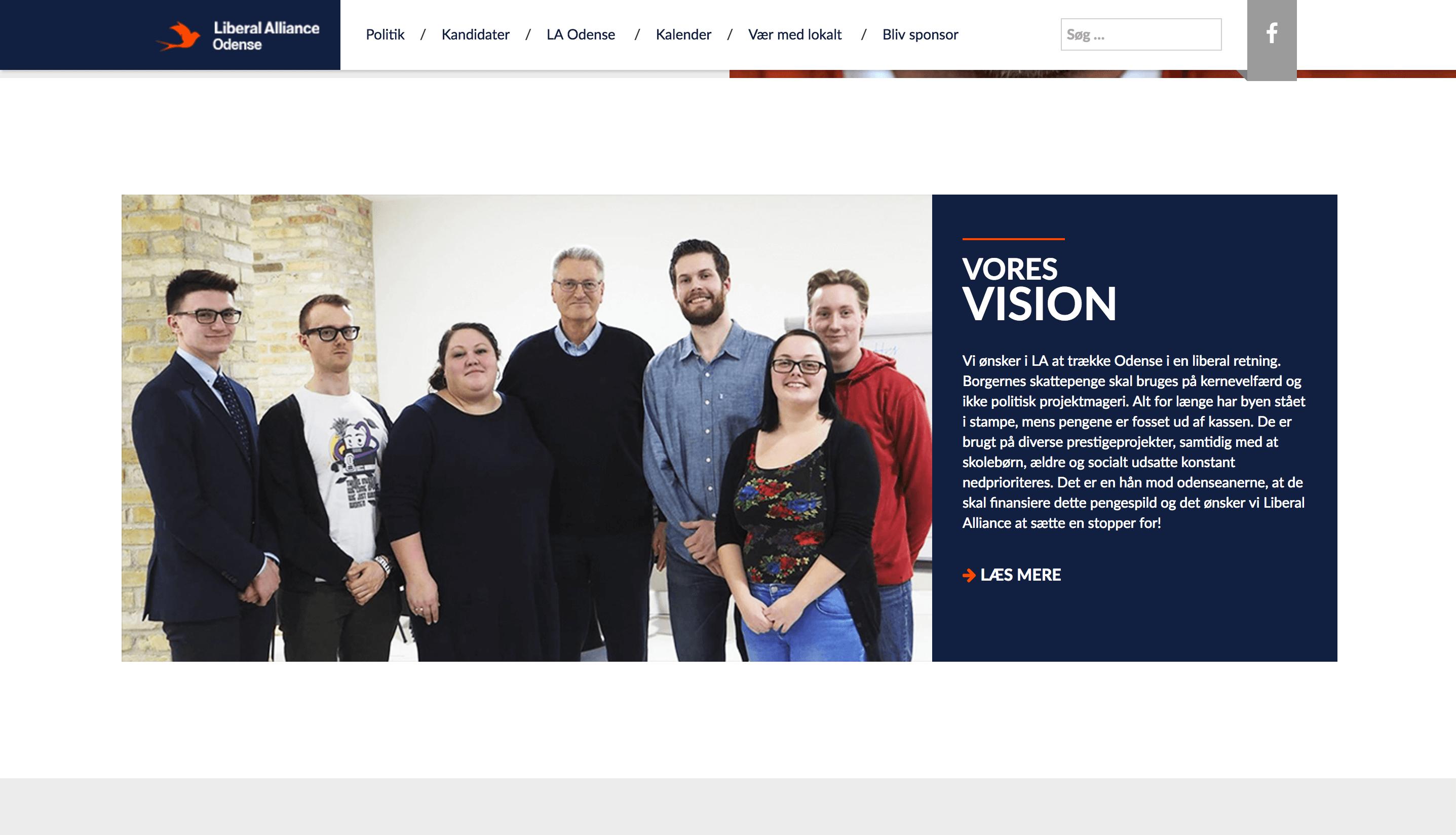 organisations hjemmeside